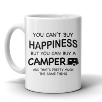 MUG - HAPPINESS CAN BUY A CAMPER CAMP2008