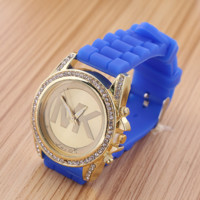 """Michael Kors"" Blue women fashion hot sale Watch"