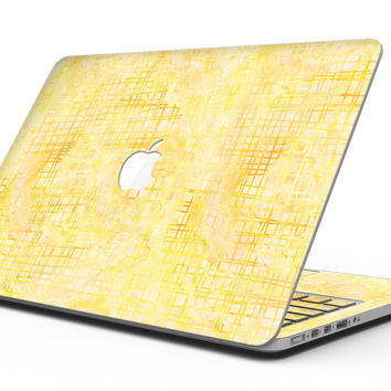 Yellow Watercolor Cross Hatch - MacBook Pro with Retina Display Full-Coverage Skin Kit