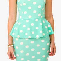 Polka Dot Peplum Dress | FOREVER 21 - 2020998348