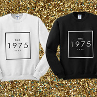 The 1975 logo music crewneck sweater available for men and woman unisex adult