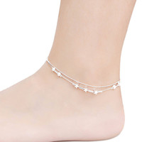 Star Design Foot Chain Bracelet Anklet Silver Plated Barefoot Anklet Beach S al Foot Jewelry Style SM6