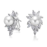 Bling Jewelry Burst Of Pearl Clips