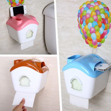Creative Design Multi-functional Waterproof Dustproof Toilet Paper Holder Roll Tissue Case