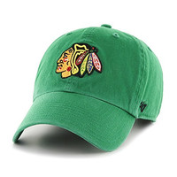 NHL Chicago Blackhawks Relaxed Fit Retro St. Patty's Cotton Twill Cap by '47