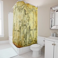 athena goddess of wealth,knowledge and the arts shower curtain