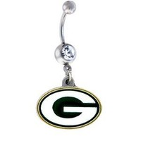 Green Bay Packers NFL Sexy Belly Navel Ring