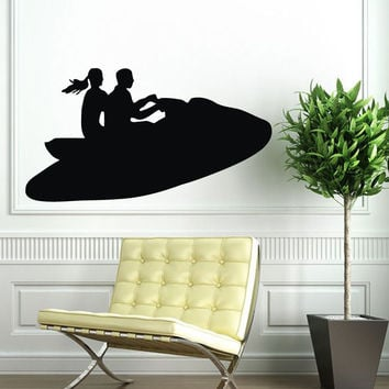 Wall Decals Vinyl Decal Sticker Art Mural Decor Water Motorcycle Design Kj667