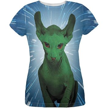 Ugly Hairless Cat of the Force All Over Womens T-Shirt