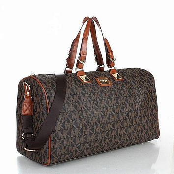 MK MICHAEL KORS Classic Popular Women Leather Multicolor Luggage Travel Bags Tote Handbag Coffee I-MYJSY-BB