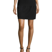 Women's Pintuck Detail Tulip Skirt, Black - Halston Heritage - Black