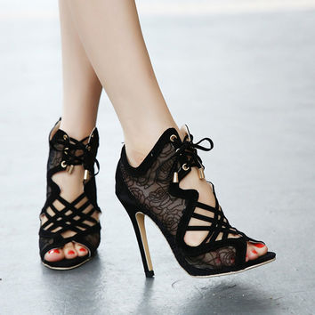 Elegant Black Women's High Heel Shoes