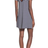 Socialite Stripe Cross Back Shift Dress | Nordstrom
