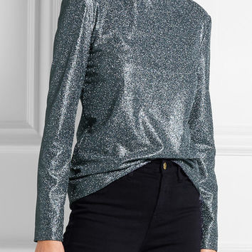 Cédric Charlier - Glittered stretch-jersey top