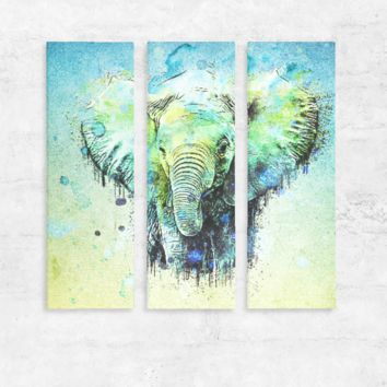 watercolor elephant