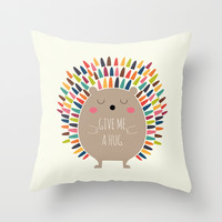 Give Me A Hug Throw Pillow by Andy Westface