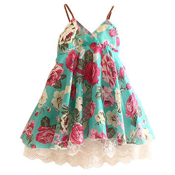 Little Girls' Dress Sleeveless Flower Lace