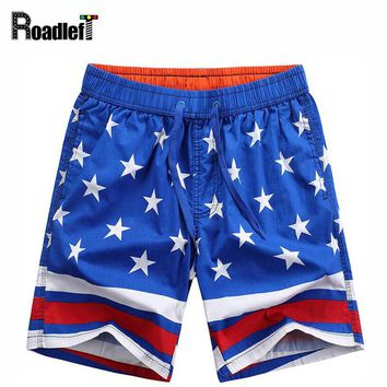 Male Fashion Patchwork Stripe Star Casual Shorts Men Quick-dry Short Pants Cotton Jogger Workout Shorts Mens Summer Beach shorts