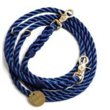 NAVY SYNTHETIC ROPE DOG LEASH, ADJUSTABLE by Found My Animal at Baysidebuddy.com