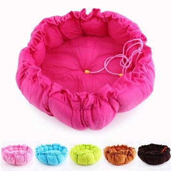 Kennel and Pet Mat Dual Pumpkin Pet Products Cotton Cute Dog Bed for Cats Dogs Small Animals Bed House Pet Beds Puppy Kitten