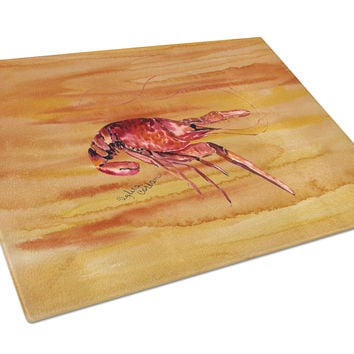Crawfish Hot and Spicy Glass Cutting Board