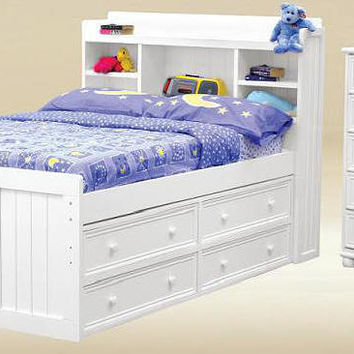 Mt. Pleasant Full Size Bookcase Captain's Bed