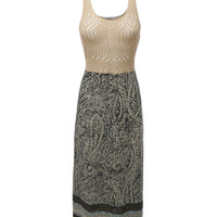 LE3NO Womens Lightweight Sleeveless Crochet Maxi Dress (CLEARANCE)