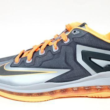 Tagre™ Nike Youth's Lebron XI Low GS Grey Basketball Shoes 644534 004