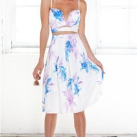 She's Winning two piece set in white floral | SHOWPO Fashion Online Shopping