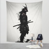 Armored Samurai Wall Tapestry by Nicklas Gustafsson