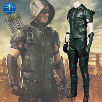 Green Arrow Season 4 Cosplay Costume Oliver Queen Green Arrow Custom Made