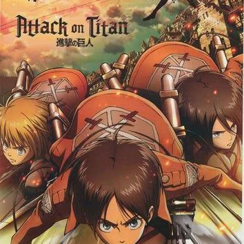 Attack on Titan Cartoon Characters Poster 22x34
