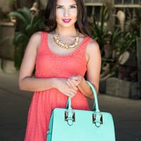 Forever Young Medium Convertible Satchel in Refreshing Mint