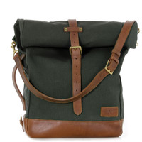 olive and tan rolltote by j.panther luggage
