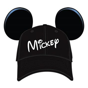 Disney Mickey Mouse Mens' Character Baseball Hat