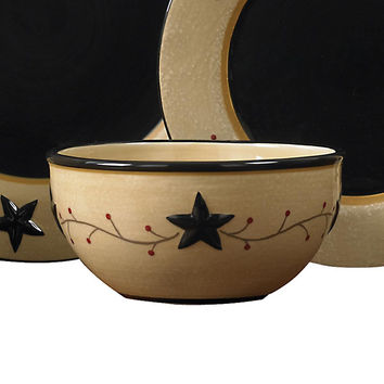 Black Star, Berry Vine Cereal Bowl-Set of 4