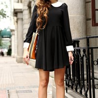 Peter Pan Collar High Waist Dress