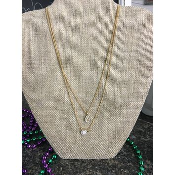 Double Bauble Stacked Necklaces