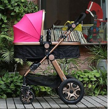Luxury Folding Baby Carriage High Landscape Baby Stroller for Infants
