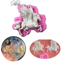 3D Pegasus Horse With Wings Silicone Cake Mold Fondant Chocolate Candy Cake Decorating Tools  DIY Baking Sugarcraft