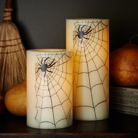 Spider Wax Flameless Pillars