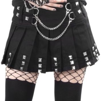 Silver Chains Mini Skirt