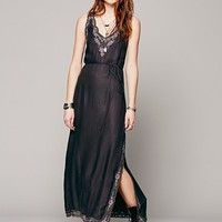 Intimately Womens Weekends Embroidered Slip - Charcoal,