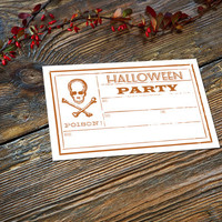 Instant Download Halloween Invitation - Poison! - 4x6 Postcard - Vintage Poison Label Inspiration