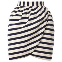 Striped Mini Wrap Skirt by Harvey Faircloth Now Available on Moda Operandi