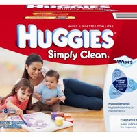 Huggies Simply Clean Fragrance Free Baby Wipes Refill, 600 Count   deviazon.com