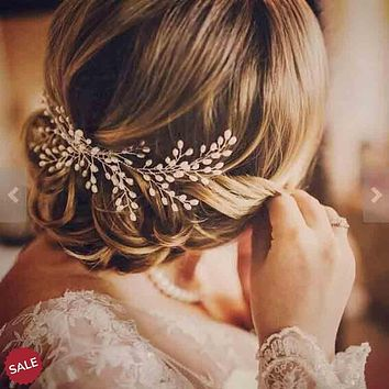 Handmade Pearl Starry Hair Comb Wedding Hair Jewelry