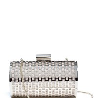 Caged Glitter Minaudiere at Guess