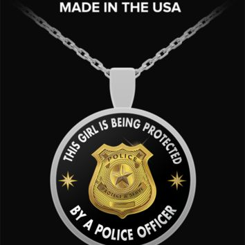 Police Necklace - Round Pendant - Gift For Wife, Girlfriend or Daughter
