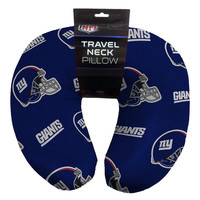 New York Giants NFL Beadded Spandex Neck Pillow (12in x 13in x 5in)